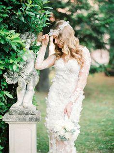 Photography: Thecablookfotolab - http://www.stylemepretty.com/portfolio/thecablookfotolab Wedding Dress: La Sposa By Pronovias - http://www.stylemepretty.com/portfolio/la-sposa-by-pronovias   Read More on SMP: http://www.stylemepretty.com/destination-weddings/2015/09/14/elegant-tuscany-villa-wedding-boudoir-inspiration/