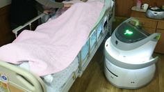 A new nursing assistant robot is being tested in elder care facilities in Korea.