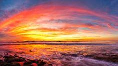 """David Winn Photography  -   La Jolla """"rainbow"""" sunset 2/2/2014"""