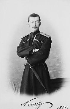 Tsaravitch Nicholas Romanov, the future Tsar Nicholas II, 1899.