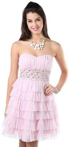 #Deb Shops                #Skirt                    #beaded #strapless #short #prom #dress #with #ruffles #tiered #skirt #debshops.com                      beaded strapless short prom dress with ruffles and tiered skirt - debshops.com                                                    http://www.seapai.com/product.aspx?PID=1869871