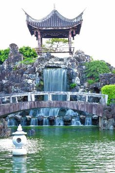 Okinawa, Japan--- the Chinese garden in Naha--- CHECK