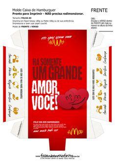 Uau! Veja o que temos para Caixa Hambúrguer Dia dos Namorados Vermelho