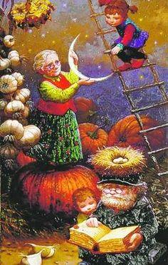 Grandma Hangs the Moon   Victor Nizovtsev