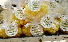 You are my sunshine party favor - lemonheads!