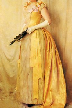 INCREDIBLE DRESSES IN ART (64/∞)The Lady in Gold by Thomas Cooper Gotch