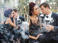 Halloween wedding ideas - photo by Analisa Joy http://ruffledblog.com/til-death-do-us-part-styled-wedding