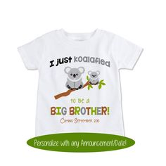 Big Brother Surprise Pregnancy Announcement Koala shirt by Exit17