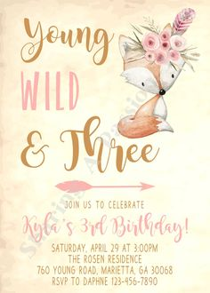 Young Wild and Three Invitations Tribal by SharingAPassionINC