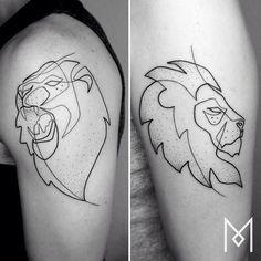 A beleza e simplicidade das tatuagens de uma única linha | Tinta na Pele