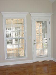 window moulding and beige walls
