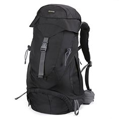 503ba3cb5897 Hiking Backpack - Evecase Water Resistant Outdoor Climbing Camping  Mountaineering Outdoor Sports Travel Backpack   Daypack with Mesh Back  Support - Black ...