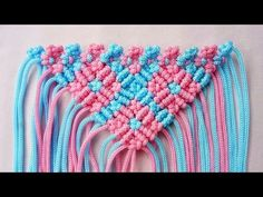 Skill Membuat Tas Rajut tali kur motif kerang warna warni from indonesia - YouTube