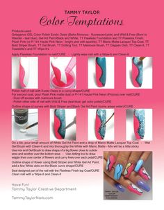 ♥ Tammy Taylor Color Temptations Nail Design Step by Step