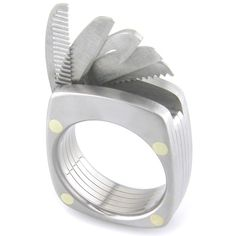 Titanium Utility Ring -- I just had to repost this because that comb is so small, I'd love to offer it to a bald man and say it is an eyebrow comb. ;-)