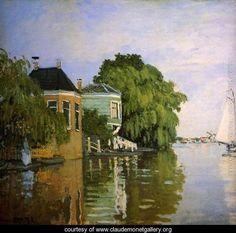 Zaandam (detail) - Claude Oscar Monet - www.claudemonetgallery.org