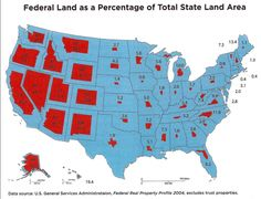 Federal Land as a Percentage of Total State Land Area (Map) – AgainstCronyCapitalism.org