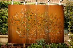 Looking for ideas to decorate your garden fence? Add some style or a little privacy with Garden Screening ideas. See more ideas about Garden fences, Garden privacy and Backyard privacy. Privacy Screen Outdoor, Backyard Privacy, Privacy Screens, Outdoor Blinds, Privacy Fences, Fencing, Pool Fence, Decorative Metal Screen, Decorative Panels
