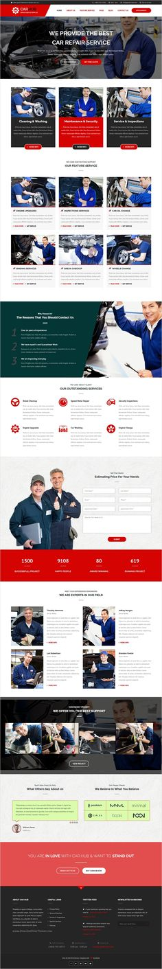 Car hub is a wonderful 3 in 1 #Bootstrap template for #webdesign of #Automobile #Mechanic service, Car Repair Shops, Car Wash, Garages website download now➩ https://themeforest.net/item/car-hub-auto-mechanic-car-repair-template/18361667?ref=Datasata