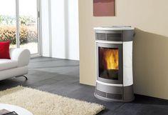 Termostufa a Pellet Bijoux 15 kw con ventilazione Pellet Stove, Home Appliances, Couch, Wood, Furniture, Design, Home Decor, Castilleja, Products
