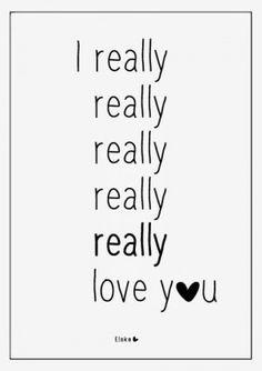 I really really ......