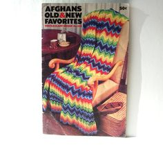 Afghans Old & New Favorites Coats Clark Book No. Team Gifts, Timeless Classic, Afghans, Old And New, Ephemera, A4, Vintage Items, Knit Crochet, Crafting