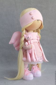 Купить или заказать кукла Ангел в интернет-магазине на Ярмарке Мастеров. Интерьерная текстильная куколка ручной работы. Ростик 30 см, стоит без поддержки. Одежда не снимается.