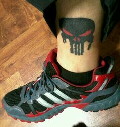 Melting Punisher tattoo