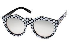 Le Specs Neo Noir Black & White Spot Sunglasses