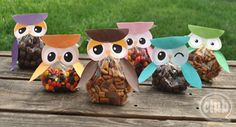 free svg thanksgiving treat box | Make your own adorable owl treat bags from this free printable. The ...