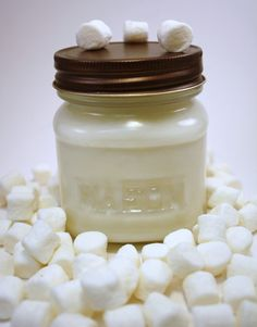 Soy Jar Candle Toasted Marshmallow Soy Candle by Blackberrythyme, $8.00