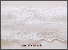 Ruban Galon Dentelle fine polyester fleurie couleur blanche : Rubans par lapetiteboutiquepourlescreatifs