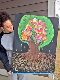 Fruitful colorful custom painting tree woman by Tree Woman, Names Of Jesus, The Dreamers, Paintings, Colorful, Unique Jewelry, Handmade Gifts, Artist, Prints