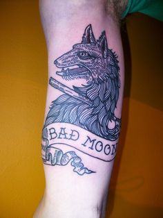 Bad Moon Wolf Tattoo by Lyam http://www.usebristol.com.br/