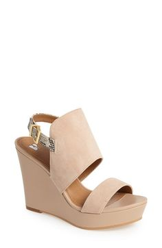 Free shipping and returns on BP. 'Lena' Wedge Sandal at Nordstrom.com. A chunky wedge sandal gets the luxe treatment with buttery-soft suede straps and a pop of snakeskin print at the heel for a flash of style each time you walk away.