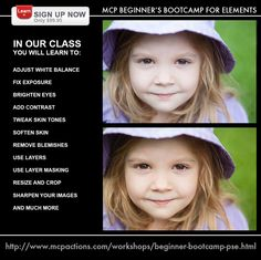 New to editing with Photoshop Elements?  Beginner Boot Camp will help you look like a pro!