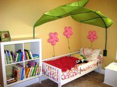 IKEA-LOVA-Bed-canopy-green-giant-leaf-NEW
