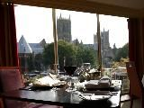 Fantastic Cathedral view from the breakfast room at The Lincoln Hotel. #bailgatewed