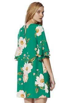 Tesco direct: F&F Floral Print Tiered Bell Sleeve Dress