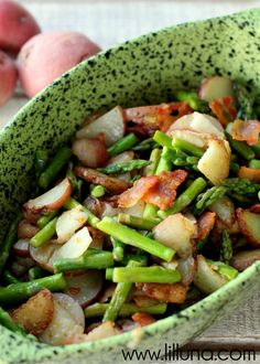 Asparagus and Tater Toss with Bacon - oh, YUM!!  This is a recipe that won't disappoint! Enjoy!