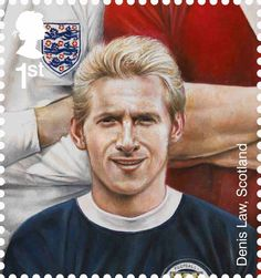 British Stamp 2013 - Football Heroes - Issued May 2013 Dennis Law, Scotland
