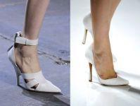 Sapatos brancos: tendência moda feminina do verão 2013.