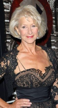 """grannies-spirit: """"Amazing porn videos – Sexy Grannies and Matured Ladies """" Beautiful Helen Mirren, Dame Helen, Beautiful Old Woman, Actrices Hollywood, Sexy Older Women, Aging Gracefully, Classic Beauty, Mannequins, Hair Cuts"""