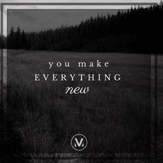 """You make everything new."" #allthingsrise #musicmonday #motivationmonday #vineyardworship #vineyardmusic @adamleerussell @hannah_bess @catbeachmusic @vineyardcampbellsville"