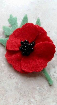 POPPY Brooch Kit by LILAC SPRIG DESIGNS ~ Remembrance, Corsage, Die Cut Felt   eBay