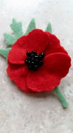 POPPY Brooch Kit by LILAC SPRIG DESIGNS ~ Remembrance, Corsage, Die Cut Felt | eBay