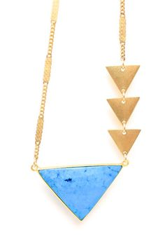 turquoise and triangles
