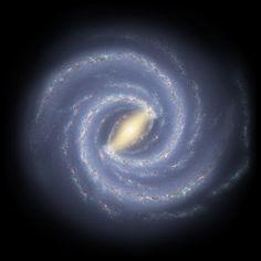 Two-Armed Spiral Milky Way   Illustration Credit: R. Hurt (SSC), JPL-Caltech, NASA   Survey Credit: GLIMPSE