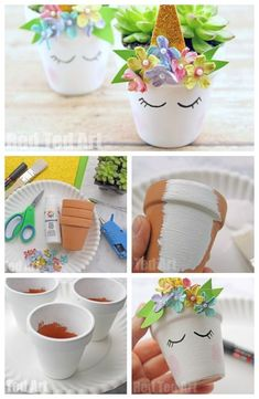 Unicorn Planter DIY is part of Unicorn crafts - Unicorn Planter DIY DIY Unicorn Succulent Planters How to make a succulent planter How to make a unicorn planter Succulent Planter DIY Room decor ideas Unicorn Decor idea Unicorn DIYs Wine Bottle Crafts, Mason Jar Crafts, Mason Jar Diy, Kids Crafts, Diy And Crafts, Craft Projects, Handmade Crafts, Cute Diy Crafts For Your Room, Teen Girl Crafts