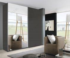 Rauch Furniture Beluga Base Sliding Wardrobe with Mirror Decor Front